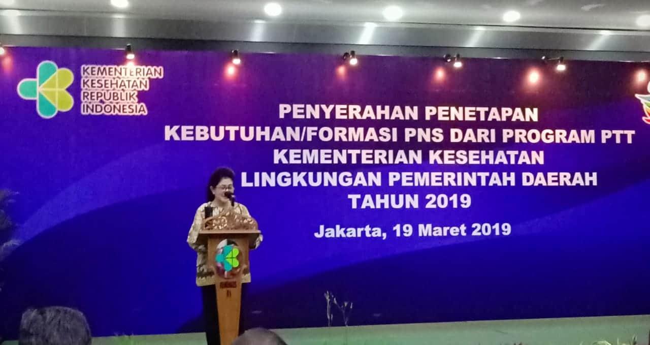 Hari ini Penyerahan Penetapan Kebutuhan Formasi PNS Dari Program PTT Kemenkes 2019