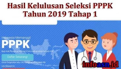 Pengumuman Hasil Seleksi Kompetensi PPPK Kabupaten Batang Tahap I Tahun 2019