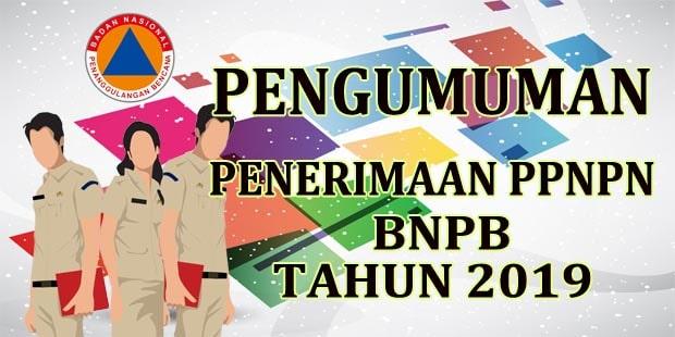 Pengumuman Penerimaan Pegawai Pemerintah Non Pegawai Negeri (PPNPN) BNPB Tahun 2019