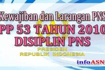 Kewajiban dan Larangan PNS Menurut PP Nomor 53 Tahun 2010