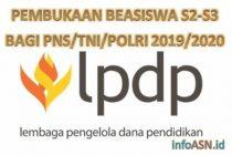 Pembukaan Program Beasiswa S2 - S3 Bagi PNS/TNI/POLRI 2019/2020