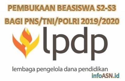Pembukaan Program Beasiswa S2 – S3 Bagi PNS/TNI/POLRI 2019/2010