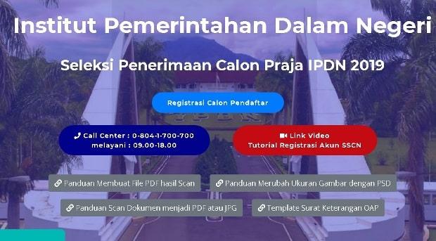 pengumuman hasil administrasi IPDN