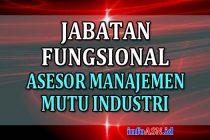 Jabatan Fungsional Asesor Manajemen Mutu Industri