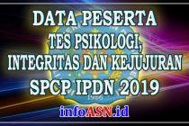 Data-Peserta-Tes-Psikologi,-Integritas-dan-Kejujuran-IPDN-2019