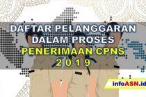 Daftar Pelanggaran Penerimaan CPNS 2019
