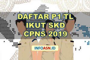 Daftar P1-TL Ikut SKD CPNS 2019