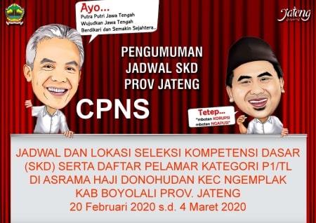 Jadwal SKD Prov Jawa Tengah