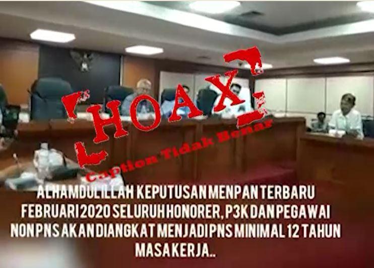 HOAKS-Video-Pengangkatan-Tenaga Honorer-P3K-dan-Pegawai-Non-PNS