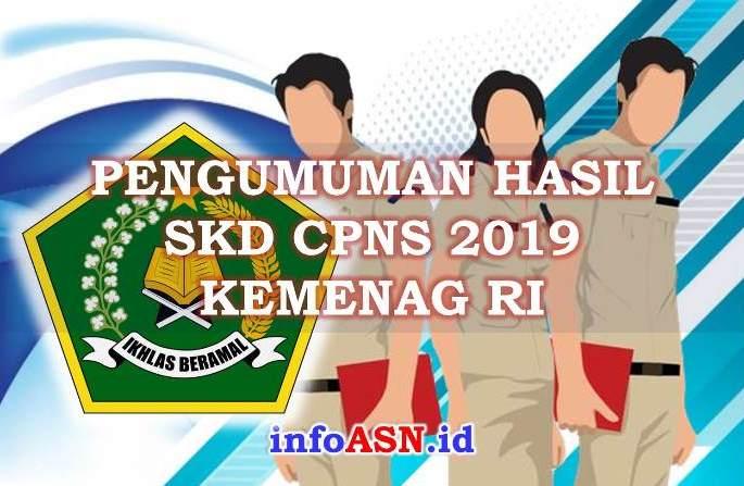 Pengumuman Hasil SKD CPNS 2019 Kementerian Agama