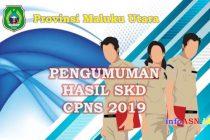 Pengumuman Hasil SKD CPNS 2019 Provinsi Maluku Utara