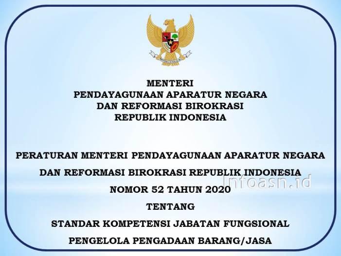 Permenpan-Nomor-52-Tahun-2020-Standar Kompetensi JF Pengelola Pengadaan Barang-Jasa