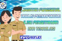 Jabatan Fungsional Analis Pemanfaatan Ilmu Pengetahuan Dan Teknologi