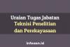 17 Butir Uraian Tugas Jabatan Teknisi Penelitian Dan Perekayasaan Penyelia