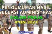 Pengumuman Hasil Seleksi Administrasi IPDN Provinsi Papua Barat 2021