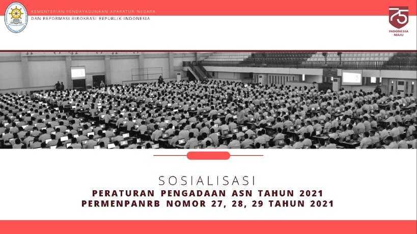 Pedoman Pengadaan CPNS PPPK Guru dan PPPK JF Tahun 2021