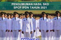 Pengumuman Hasil SKD IPDN Tahun 2021