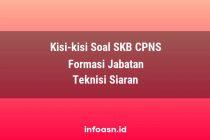 Kisi-Kisi Soal SKB CPNS Formasi Teknisi Siaran Ahli Pertama